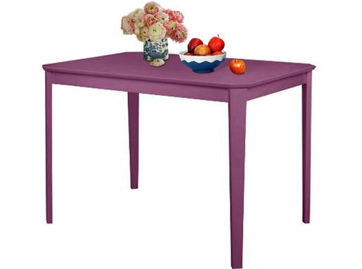 Tisch TRENDY 110 x 75 cm aus Massivholz in lila