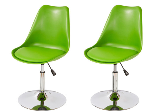 2er-Set Drehstuhl SICO mit Kunstleder in grün