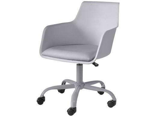 Bürostuhl LOKI Schalenstuhl mit Sitzpolster in grau