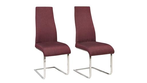 2er-Set Freischwinger Stuhl MARCO in lila