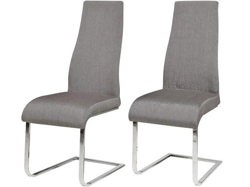 2er-Set Freischwinger Stuhl MARCO in grau