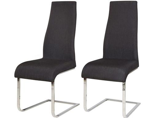 2er-Set Freischwinger Stuhl MARCO in schwarz