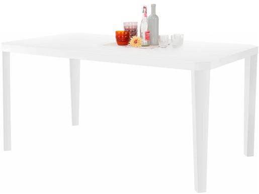Esstisch ALEX 160x75 cm aus Holzwerkstoff in weiß