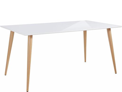 Moderner Esstisch ASTARIA mit Metallbeinen in Holzoptik
