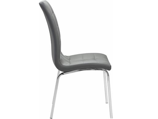 2er Set Stuhl LUNAR aus Kunstleder in grau