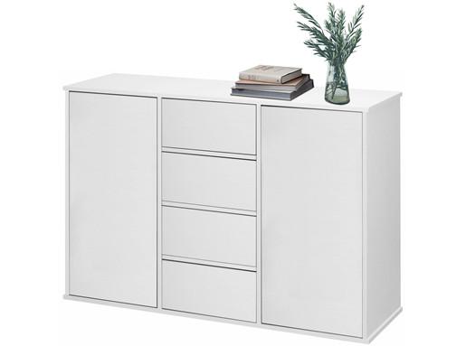 Sideboard LIUS 2 Türen aus MDF in weiß matt