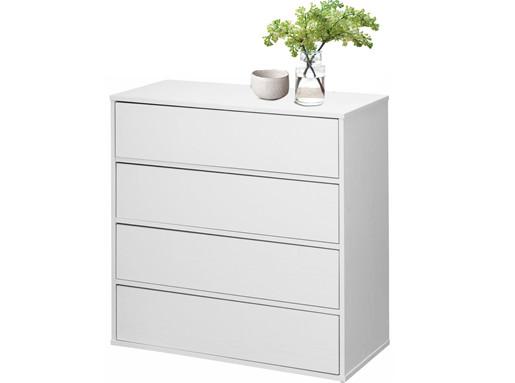 Schubladenkommode LIUS 4 Schubladen in weiß matt