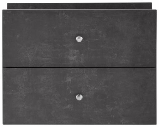Schubkasten Set MARIO aus MDF in betonfarben matt