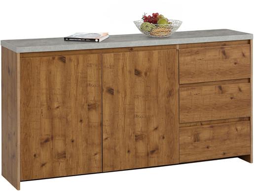 2-trg. Sideboard MALIBU mit Betonplatte, Breite 150 cm