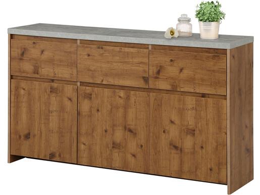 3-trg. Sideboard MALIBU mit Betonplatte, Breite 140 cm