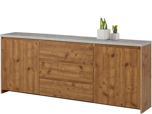 2-trg. Sideboard MALIBU mit Betonplatte, Breite 200 cm