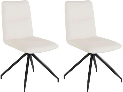 2er-Set Drehstuhl ADIL Kunstleder Bezug in weiß