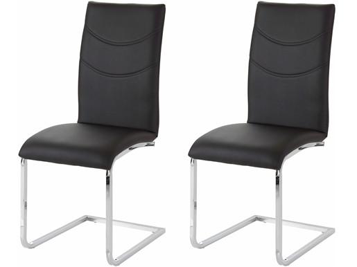 2er Set Stuhl SITO gepolstert in schwarz