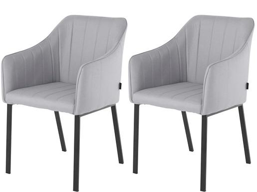 2er-Set Sessel JACKSON Stoffbezug grau, Sitzhöhe 50 cm