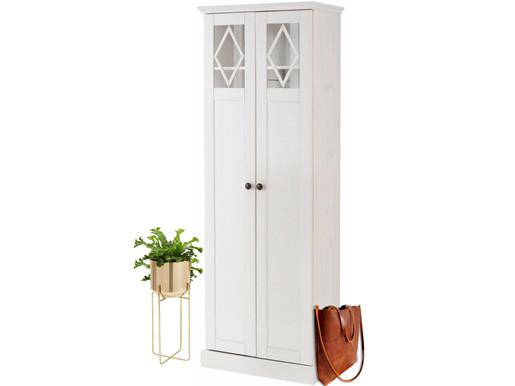 Kleiderschrank LUTHER aus Kiefer massiv in weiß lackiert