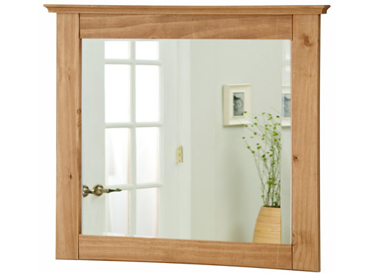 Klein Spiegel UTHER 70x60 cm Kiefer massiv gebeizt geölt