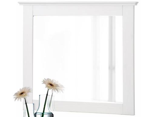 Klein Spiegel LUTHER 70x60cm Kiefer massiv weiß lackiert