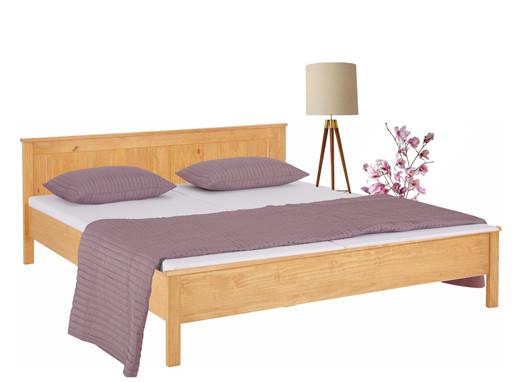 Bett PULLMANN 180x200 aus Kiefer massiv in gebeizt geölt