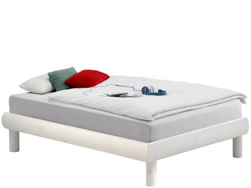 Bett OCTAVE 90x190cm aus Kiefer massiv in weiß