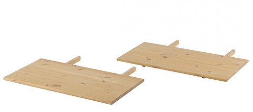 2er-Set Tischplatte SUSAN aus Kiefer massiv, gebeizt geölt