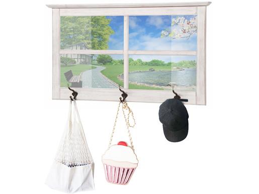 Fensterspiegel RUNE aus Kiefer massiv in weiß gebürstet