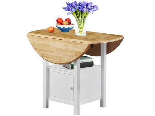 Esstisch MADEIRA aus Massivholz mit klappbarer Tischplatte