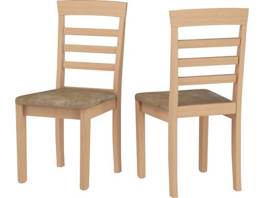 2er-Set Stühle JONATHAN aus Massivholz in geölt, gepolstert