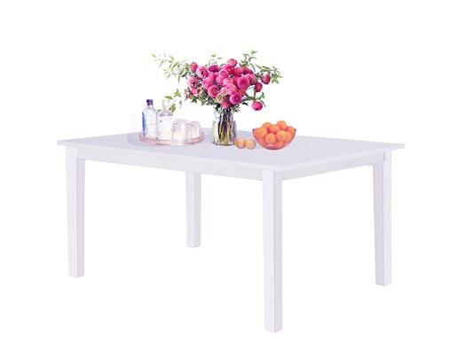 MICHAEL Tisch aus Massivholz in weiß 120 x 75 cm