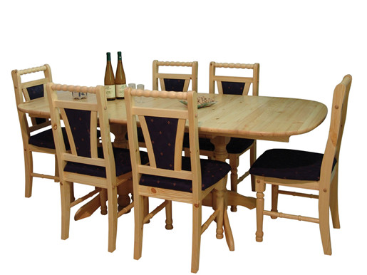 Ausziehbarer Tisch SUNDS aus Kiefer natur lackiert