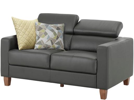 2-Sitzer LUCA aus Leder in schwarz, Breite 150 cm