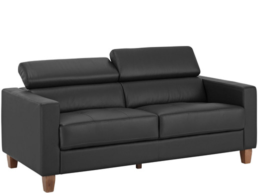 3-Sitzer Sofa LUCA aus PU in grau