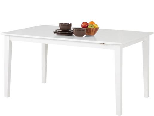 Esstisch BERN aus Kiefer mit Ansteckplatte in weiß