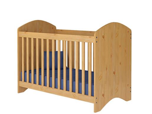 Baby Gitterbett PANDA aus Kiefer massiv, gebeizt lackiert