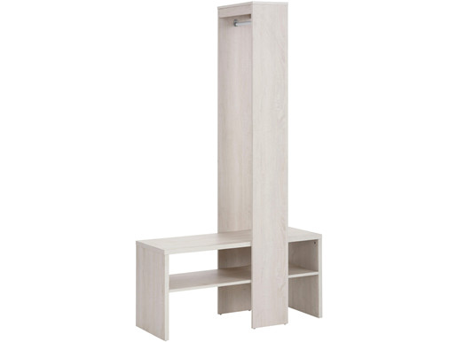 Garderobenschrank HUGO mit Kleiderstange in weiß