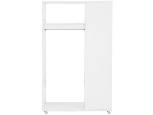 Garderobenschrank WINSTON auf Rollen in weiß, Breite 100 cm