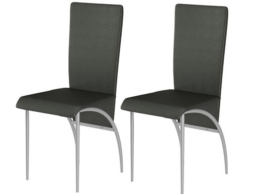 2er-Set Esszimmerstühle MONIQUE in schwarz
