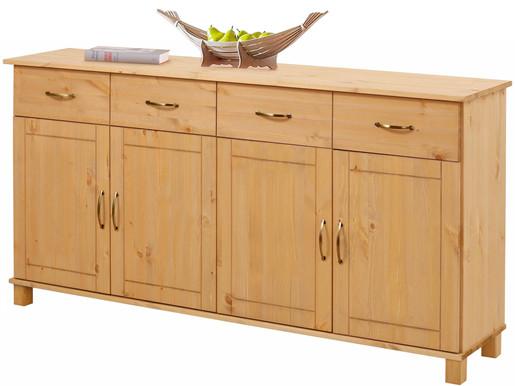 sideboard pasha 4 t ren kiefer massiv gebeizt ge lt. Black Bedroom Furniture Sets. Home Design Ideas