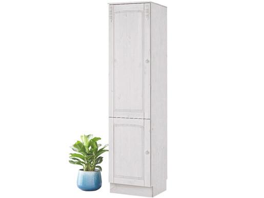 Hochschrank SALUTE 2 Türen Kiefer in weiß lasiert