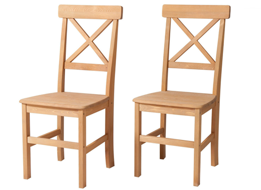 2 Stühle NIKOLAI aus Kiefer massiv in gebeizt geölt