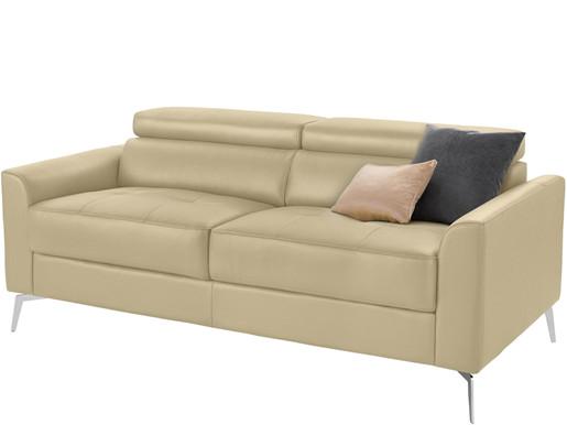 3-Sitzer Sofa JONI aus Kunstleder in creme, Breite 185 cm