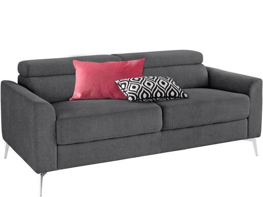 3-Sitzer Sofa JONI aus Webstoff in anthrazit, Breite 185 cm