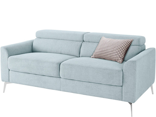 3-Sitzer Sofa JONI aus Webstoff in blau, Breite 185 cm