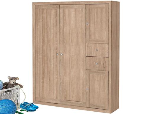 Schuhschrank JAMY Höhe 160 cmaus FSC® Holz in Sonoma Eiche