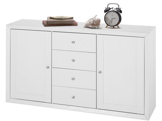 Sideboard JAMY 140 cmaus FSC Holz in weiß
