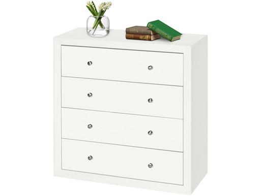 Kommode JAMY aus FSC® Holz in weiß mit 4 Schubladen