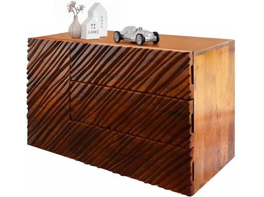 Sideboard NILS 120 cm Breite aus Mangoholz in dunkelbraun