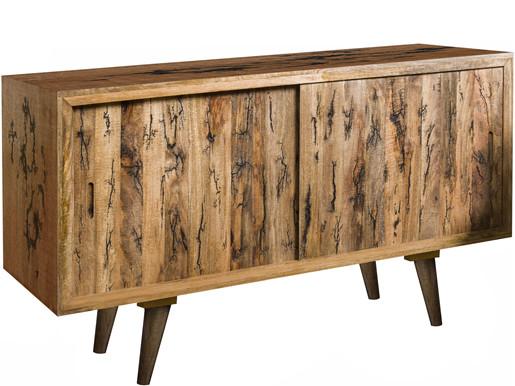 Sideboard MAPLE 160 cm Breite aus Mangoholz in naturfarben