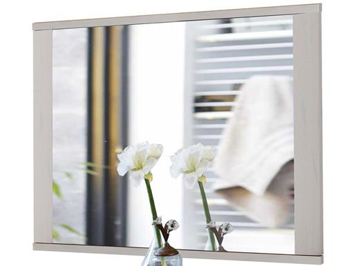 Spiegel SATO 80x65 cm aus Kiefer massiv in weiß gebürstet