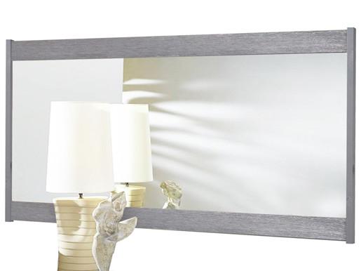 Großer Spiegel SATO aus Kiefer massiv in grau gekälkt
