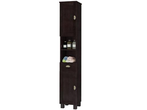 Hochschrank TUSCANY mit zwei Holztüren in havanna lackiert